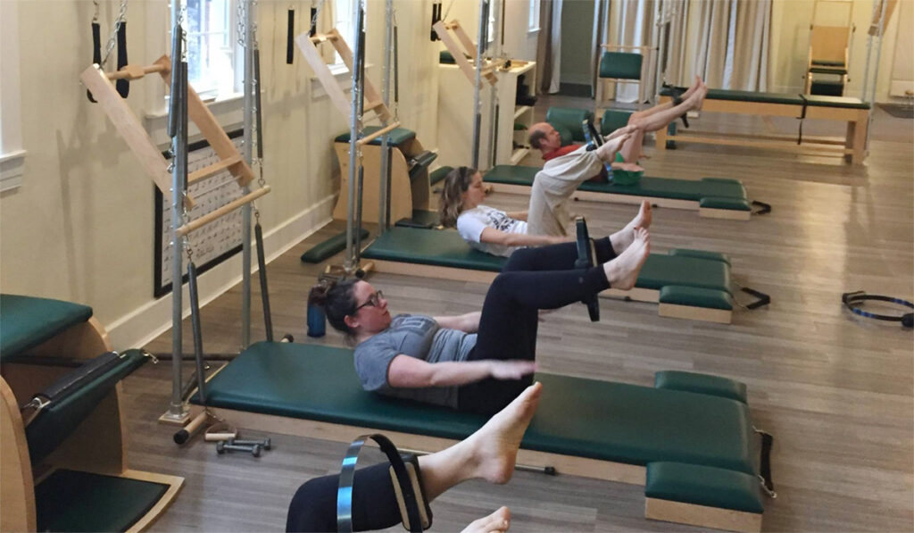 Mat Pilates class at Wild and Woolly Pilates in Louisville KY